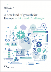 Europe Delivers cover - A new kind of growth for Europe - 4 grand challenges