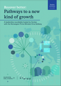 Europe Delivers cover - Recover better - pathways to a new kind of growth
